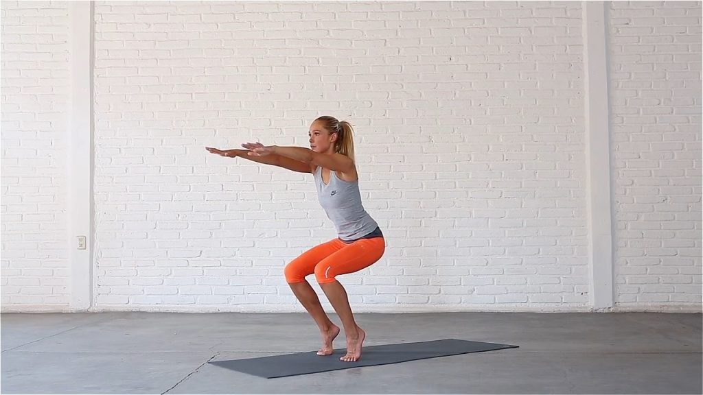 Awkward pose challenges your balance and builds strength in the feet and legs.