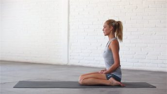 Hero pose is a great pose for meditation and pranayama.