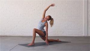 Beginner Sidebends stretches the shoulders, obliques and intercostals.