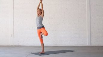 Tree pose is a on-legged balancing pose.