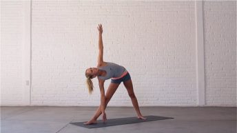 Twist and Bend stretches muscles throughout the body.