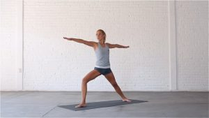 Warrior Flow is a fast vinyasa sequence.