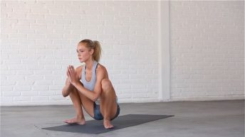 Yoga Squat opens up the hips.