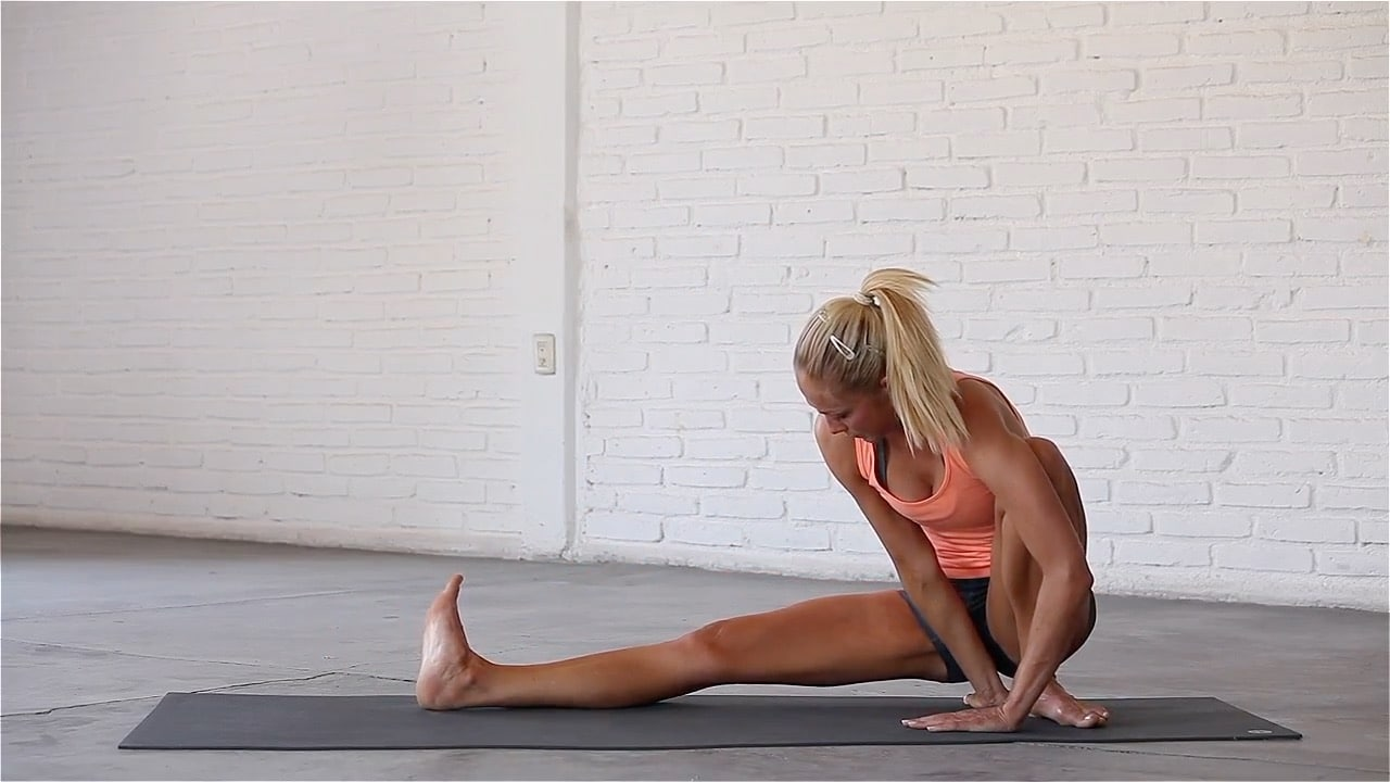 Side Lunge is a classic groin, calf and hamstring stretch.