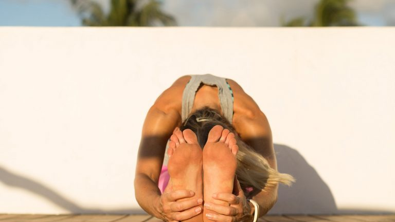 Yoga exercises for sore feet and ankles.